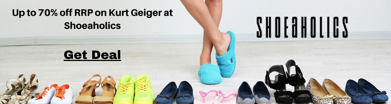 Up to 70% off RRP on Kurt Geiger at Shoeaholics